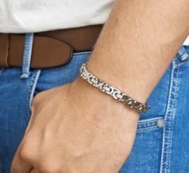 Stalen armband konings 8,5 mm 21 cm