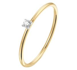 Gouden bicolor ring diamant