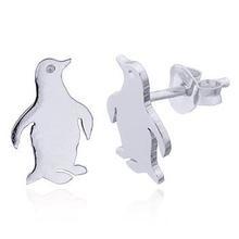 zilveren oorknopjes:pinquin