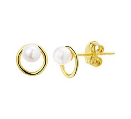 Gouden oorknopjes met parel
