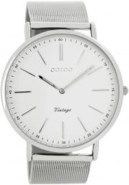 OOZOO horloge wit / zilver 44 MM