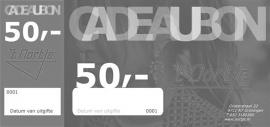 Cadeaubon vijftig euro