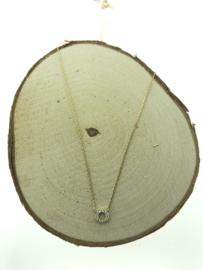 Gouden collier zirkonia steentjes