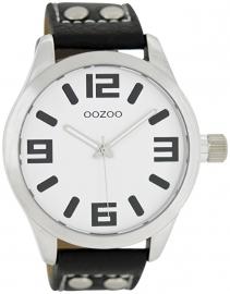OOZOO horloge wit / zwart 46 MM