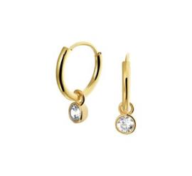 Gouden oorringetjes steen