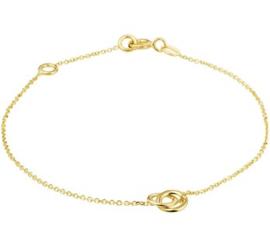 Gouden armbandje rondjes
