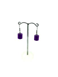 MOOI oorhangers cilinder paars