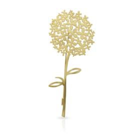 Broche gouden hortensia
