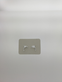 Zilveren oorstekers dolfijn