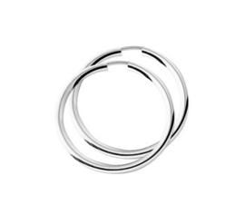 Zilveren dikke oorringen 30 mm