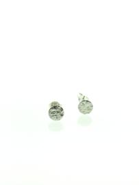 Zilveren bewerkte schijfjes