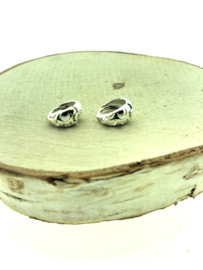 Zilveren klapcreolen maantjes