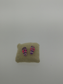 Zilveren oorstekers slipper