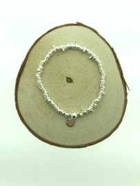 Zilveren armbandje losse stukken