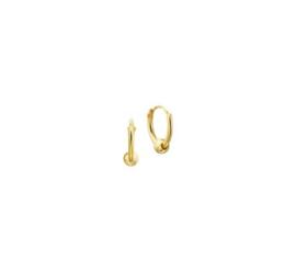 Gouden oorringetjes met bol