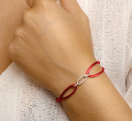 Armband satijn Bordeaux rood