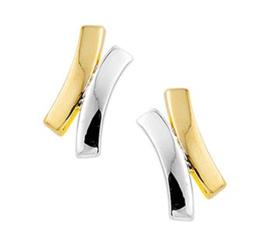 Gouden oorstekers kruis
