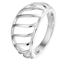 Zilveren ring open gewerkt