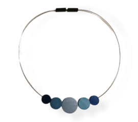 Tjongejonge collier cirkels blauw