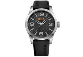 Hugo Boss Orange siliconen zwart 47 mm
