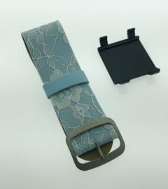 STAMPS-bandje lichtblauw met versiering