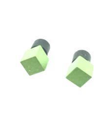 Oorstekers blokje licht groen