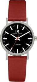 Danish Design horloge zwart/rood 30 mm