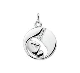 Zilveren kettinghanger foetus
