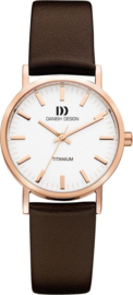 Danish Design horloge wit/rosé 30 mm