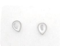 Zilveren oorstekers met parelmoer druppel