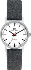 Danish Design horloge donkergrijs 30 mm
