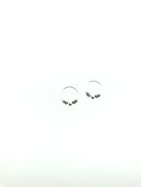 Zilveren oorringetjes bali klein