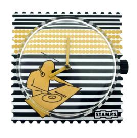 STAMPS-klokje striped dj