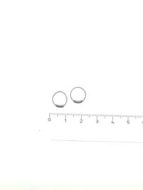 Zilveren bali oorringen