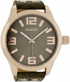 OOZOO horloge taupe rosé 51 MM