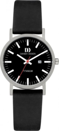 Danish Design horloge zwart datum 30 mm