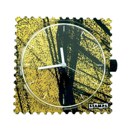 STAMPS-klokje yellow wood