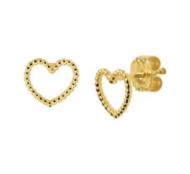 Gouden oorstekers open hartjes
