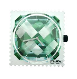 STAMPS-klokje groene diamant