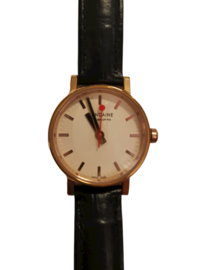 Mondaine horloge rosé/zwart 26 mm