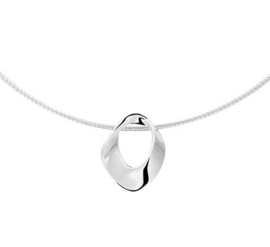 Gerhodineerd 925 zilveren collier