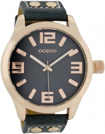OOZOO horloge donkergroen / rosé 46 MM