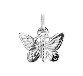 Zilveren kettinghanger vlinder