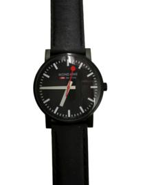 Mondaine horloge zwart 35 mm