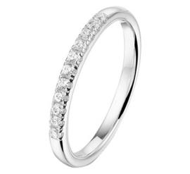 Zilveren ring rij zirkonia