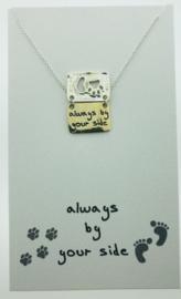 Zilveren geschenk DOG