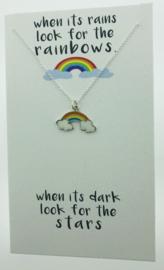 Zilveren geschenk RAINBOW