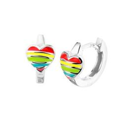 Klapcreolen hart regenboog