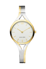 Danish Design horloge zilver / goud 28 mm