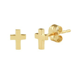 Gouden oorknopjes kruis